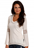 Women's V-Neck Knit with Bell Sleeves by Panhandle Slim