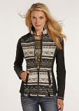 Women's Aztec Wool Jacquard Vest by Powder River