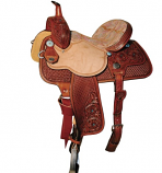 """14"""" Red Paisley Print Wide Barrel Saddle by Reinsman"""