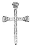 Sterling Silver Horseshoe Nail Cross by Kelly Herd