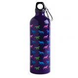 Purple Multi Horse 26oz Aluminum Sports Water Bottle by Kelley and Co.
