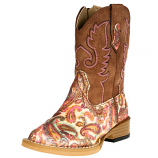 Toddler's Paisley Glitter Western Boot by Roper