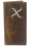Men's Twisted X Silver Embroidered Rodeo Wallet By Western Fashion