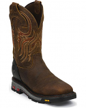 Men's Driscoll Mahogany Steel Toe Work Boots by Justin