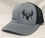"Grey and Black ""Show Your Skull"" Texas Trophy Hunters Association (TTHA) Snapback Hat by Oil Field Hats, LLC"