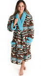 Horse Fair Isle Robe by Lazy One