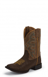 Kids Brown Square Toe Rodeo Boot by Nocona Boots