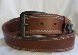 "Men's 1 1/2"" Basic Brown Western Belt by 3D"