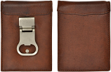Classic Brown Money Clip Wallet By 3D Belt Company