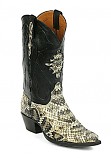 Men's Eastern Rattle Snake Black Boot by Black Jack Boots