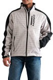 Men's Gray and Black Pieced Bonded Jacket by Cinch