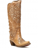 Women's Braided Snip Toe Western Boots by Corral