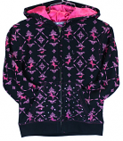 Girl's Horse Print Hooded Full Zip Black by Cowgirl Hardware