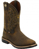 Men's Dark Brown George Strait Waterproof Cowboy Boots by Justin