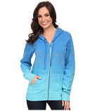 Women's Embellished Blue Hombre Hooded Sweatshirt by Rock and Roll Cowgirl