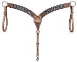 Copper & Crystal Breast Collar by Bar H