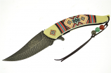 Aztec & Bone Feather Knife