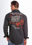 Men's Rough Stock Bigelow Twill Bull Ridin' Button Down by Panhandle Slim