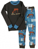 Kids Pasture Bedtime Boys PJ Set by Lazy One