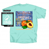 Women's Southern Strut Sweet Peach Short Sleeve T-Shirt by Red Horse Screen Printing