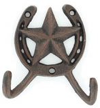 Cast Iron Double Star Hook By M&F