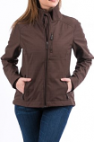 Women's Brown Concealed Bonded Jacket by Cinch