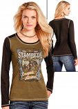 """Women's Knit """"Stampede"""" Graphic Tee by Panhandle Slim"""