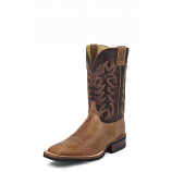Men's Tan Cowhide AQHA Q-Crepe Boot by Justin
