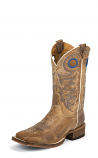 Men's Beige Chievo Cowhide Bent Rail Boots by Justin