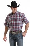 Men's Multi Plaid Short Sleeve Button Down Shirt by Cinch