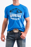 Men's Blue Cotton-Poly Tee by Cinch