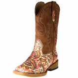 Kid's Glitter Paisley Western Boots by Roper