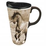 Wild Chestnut Ceramic Coffee Mug by Evergreen