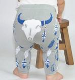Kid's Gray Steer Leggings by Doodle Pants