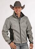 Men's Tuf Cooper Bonded Herringbone Soft Shell Performance Jacket by Panhandle Slim