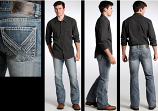 Men's Double Barrel Medium Vintage Wash Jean by Rock and Roll Cowboy