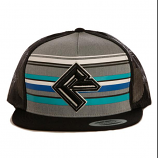 Men's Black and Striped Logo Ball Cap by Rock and Roll