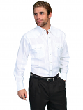 Men's Classic Long Sleeve White or Black Shirt by Scully