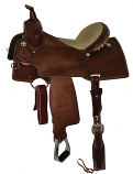 "14"" Charmayne James Collection Barrel Saddle with Chocolate Alligator Seat by Reinsman"