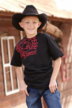 Boy's Black and Red Logo T-Shirt by Cinch