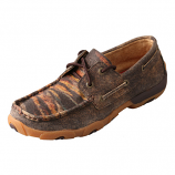 Women's Distressed Tiger Driving Moc by Twisted X