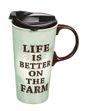 Life is Better on the Farm Ceramic Mug by Evergreen