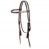 Chocolate Rawhide Braided Browband Headstall by Martin Saddlery