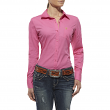 Women's Kirby Solid Pink Long Sleeve Shirt by Ariat