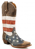 Men's American Flag Snip Toe Boot by Roper