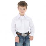 Boy's White Dress Shirt by Wrangler