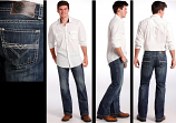 Men's Double Barrel Jeans with Embroidery by Rock and Roll Cowboy
