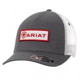 Men's Gray Logo Patch Ball Cap by Ariat