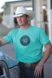 Men's Heather Teal Tee Shirt by Cinch