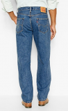 Men's 550 Medium Stonewash Relaxed Fit Straight Leg Jean AVAILABLE in Big & Tall by Levi's